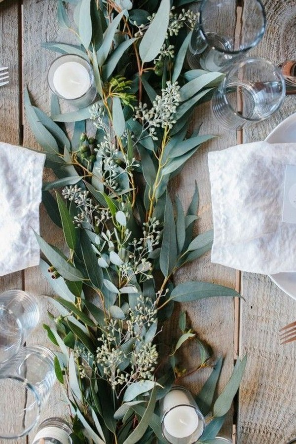lush greenery wedding table setting ideas