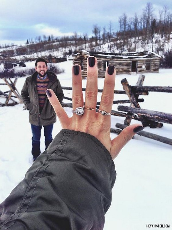 proposal ideas to show off your engagement ring