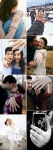 romantic proposal picture ideas with engagement rings