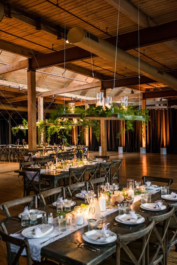 rustic chic loft wedding reception ideas