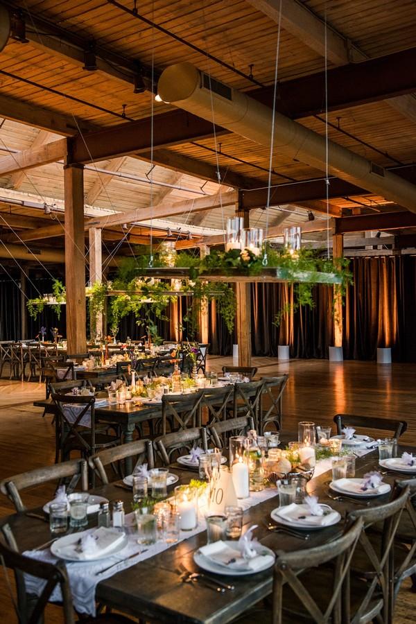rustic chic loft wedding reception ideas
