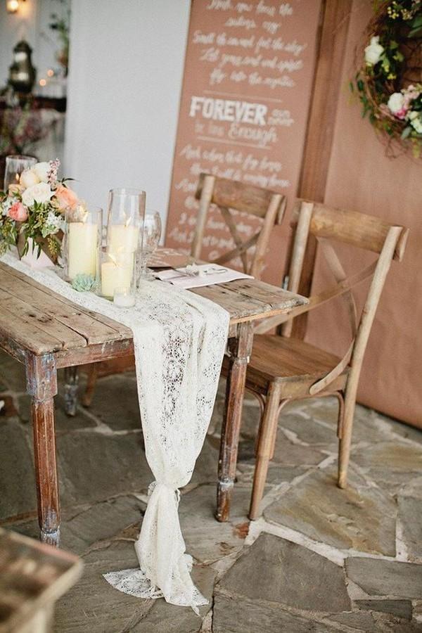 rustic chic wedding table setting ideas