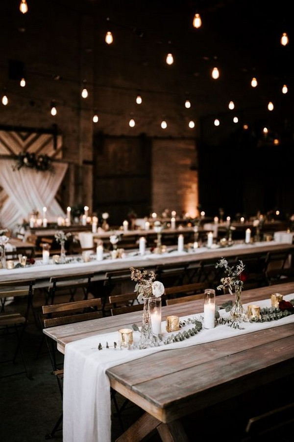 rustic industrial wedding reception decoration ideas