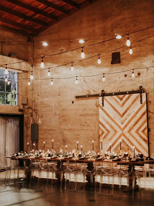 simple loft wedding reception ideas