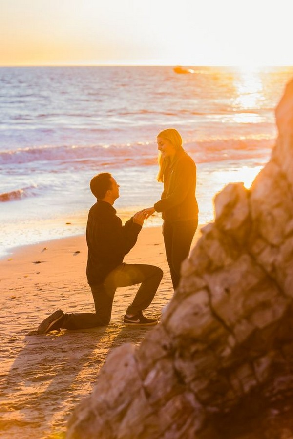 sunset beach proposal picture ideas