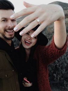 sweet proposal picture with ring shot