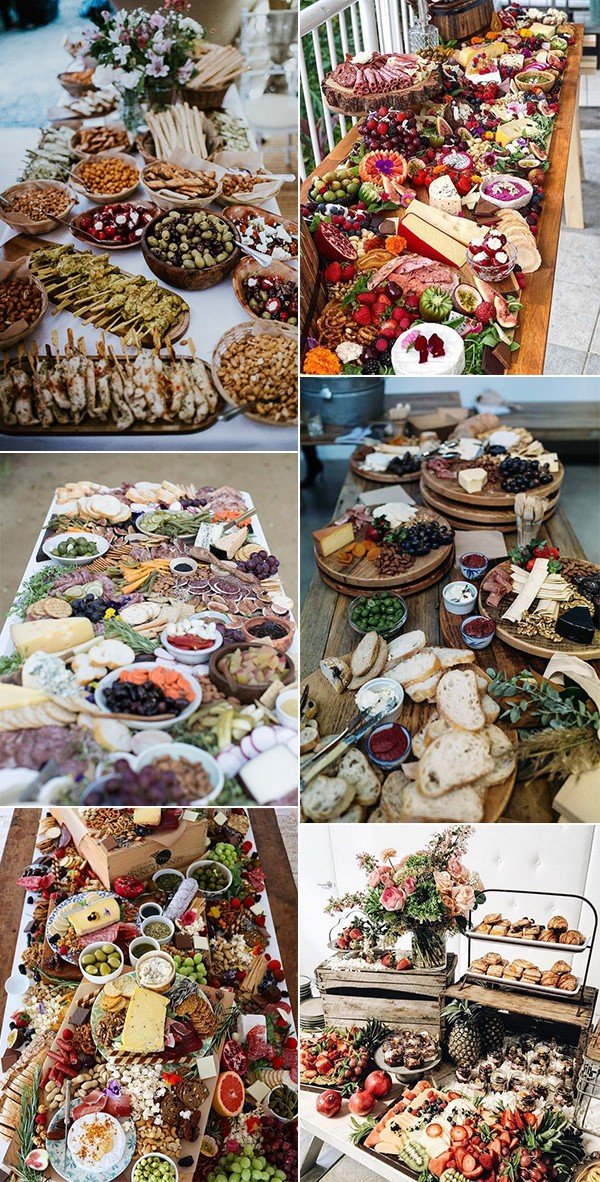 trending charcuterie tables wedding food ideas