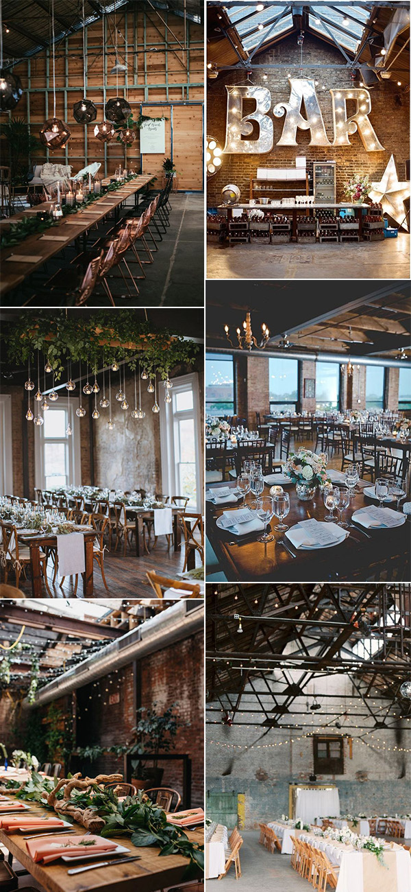 trending chic loft wedding reception decoration ideas for 2019
