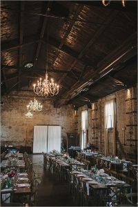 vintage industrial loft wedding reception