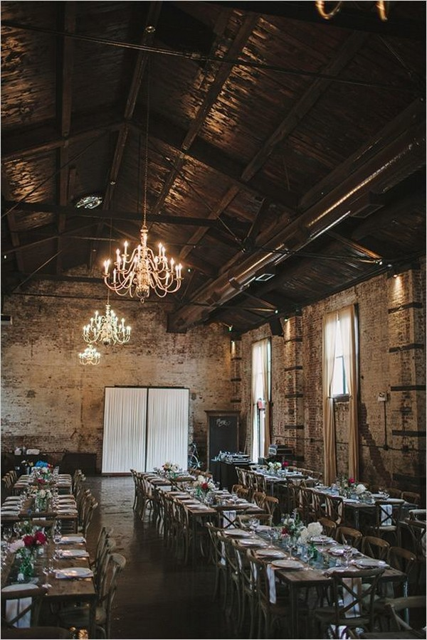 vintage industrial loft wedding reception