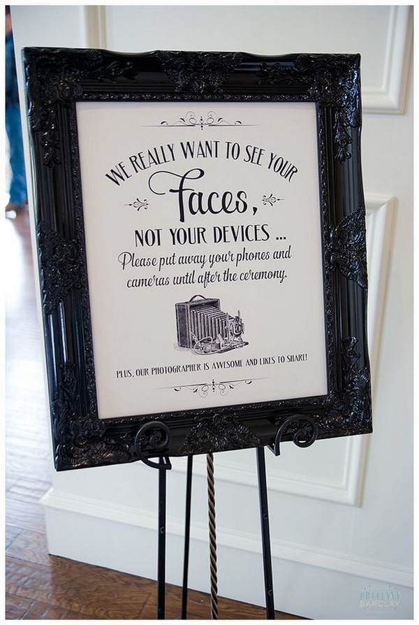 vintage unplugged wedding sign ideas