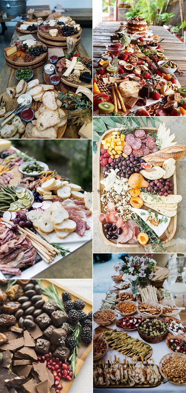 wedding charcuterie table food ideas for 2019 trends