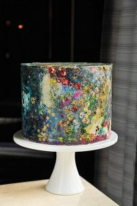 whimsical hand painted wedding cake ideas