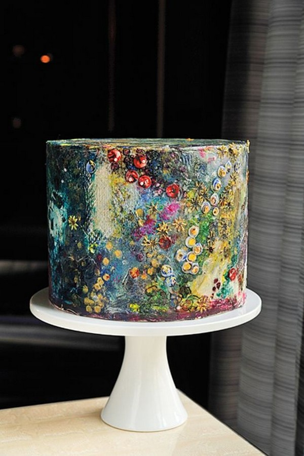 whimsical hand painted wedding cake ideas