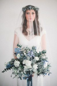 blue green and white wedding bouquet ideas