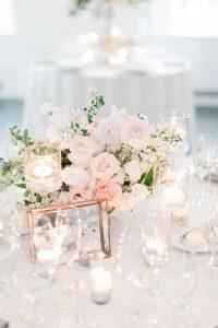 blush pink elegant wedding centerpiece