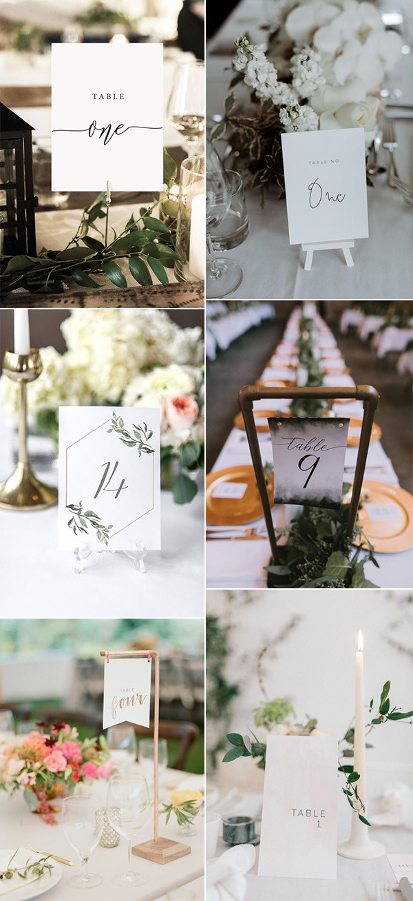 budget friendly printable wedding table numbers