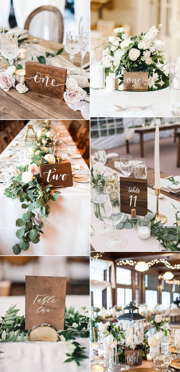 chic wood wedding table number ideas for 2019 trends