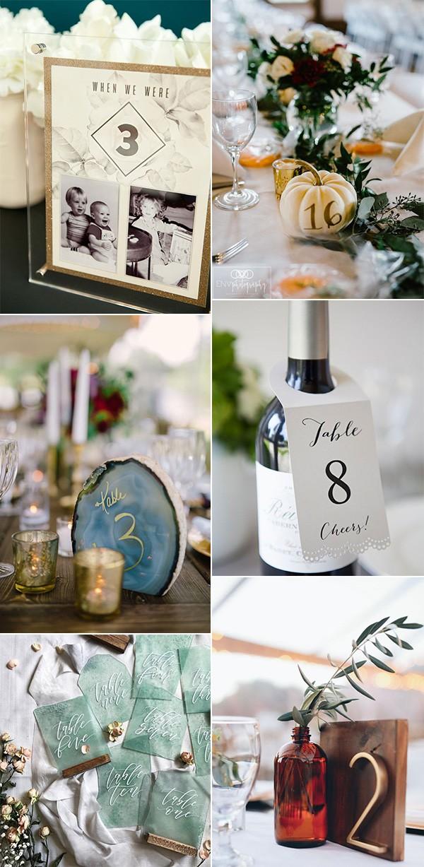 creative diy wedding table number ideas