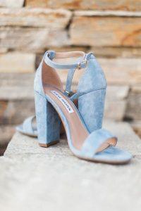 dusty blue wedding shoes