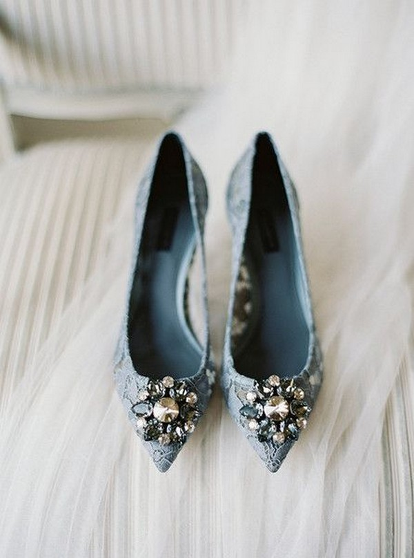 dusty blue wedding shoes ideas