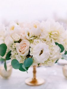 elegant blush pink and ivory wedding centerpiece ideas