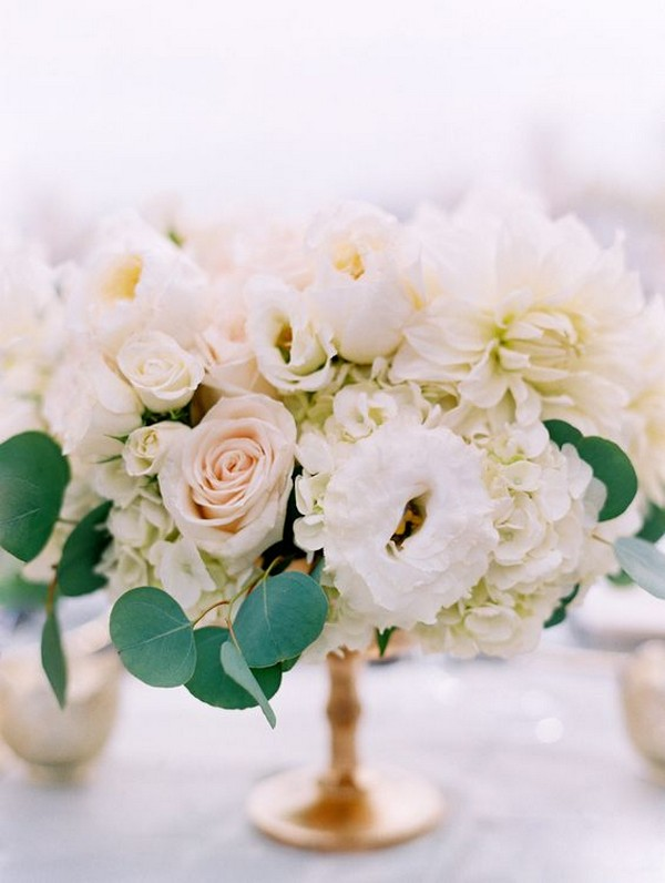 elegant blush pink and ivory wedding centerpiece ideas