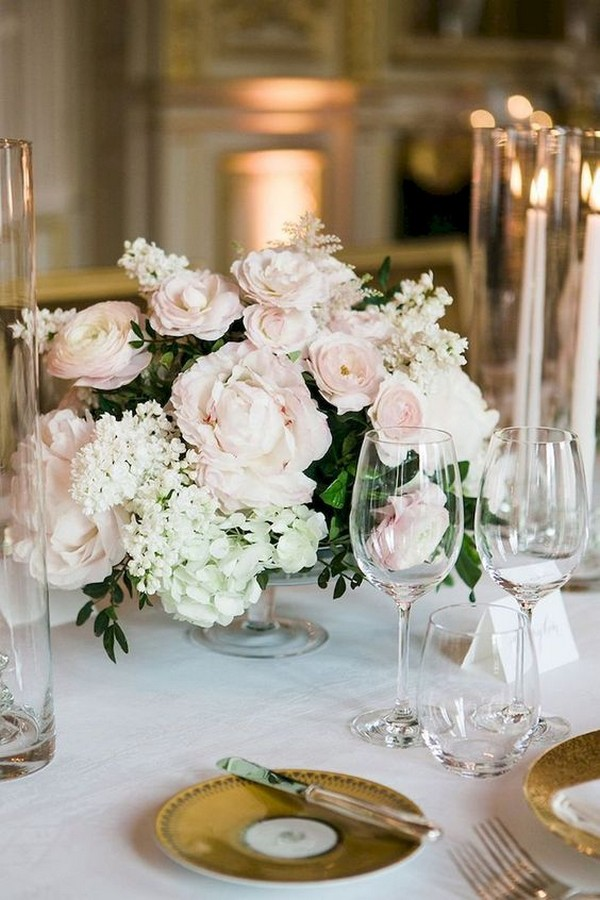 elegant blush pink wedding centerpiece ideas