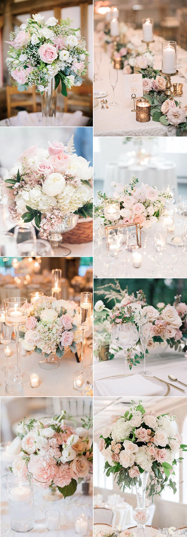 elegant blush pink wedding centerpieces for 2019
