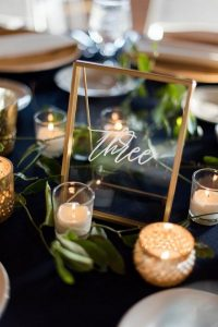 industrial acrylic wedding table number ideas