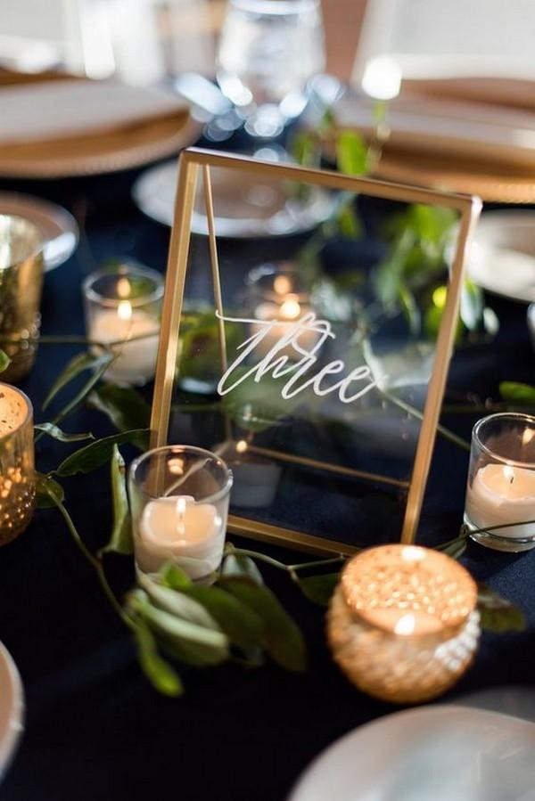 industrial acrylic wedding table number ideas