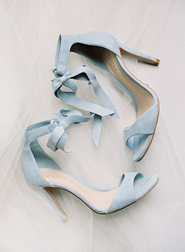 lace up blue wedding shoes