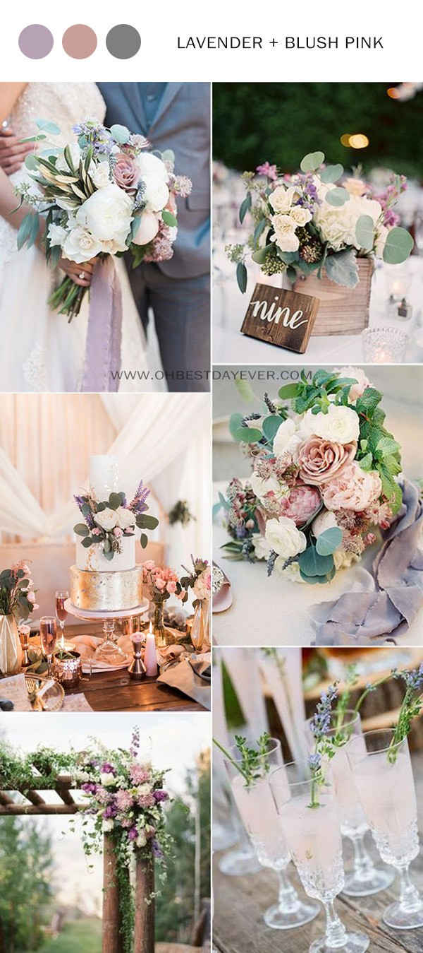 lavender and blush pink spring summer wedding color ideas
