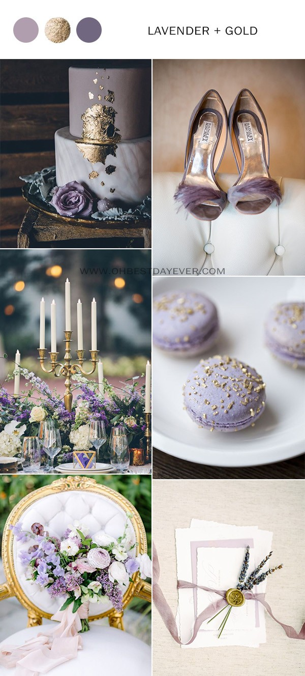 lavender and gold wedding color ideas