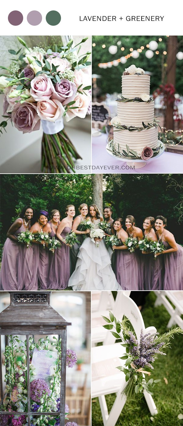 lavender and green wedding color ideas