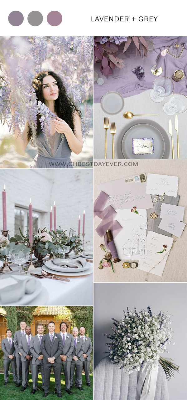 lavender and grey wedding color ideas for 2019