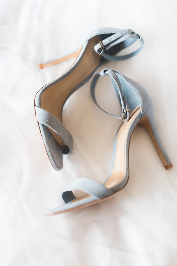 light dusty blue wedding heels
