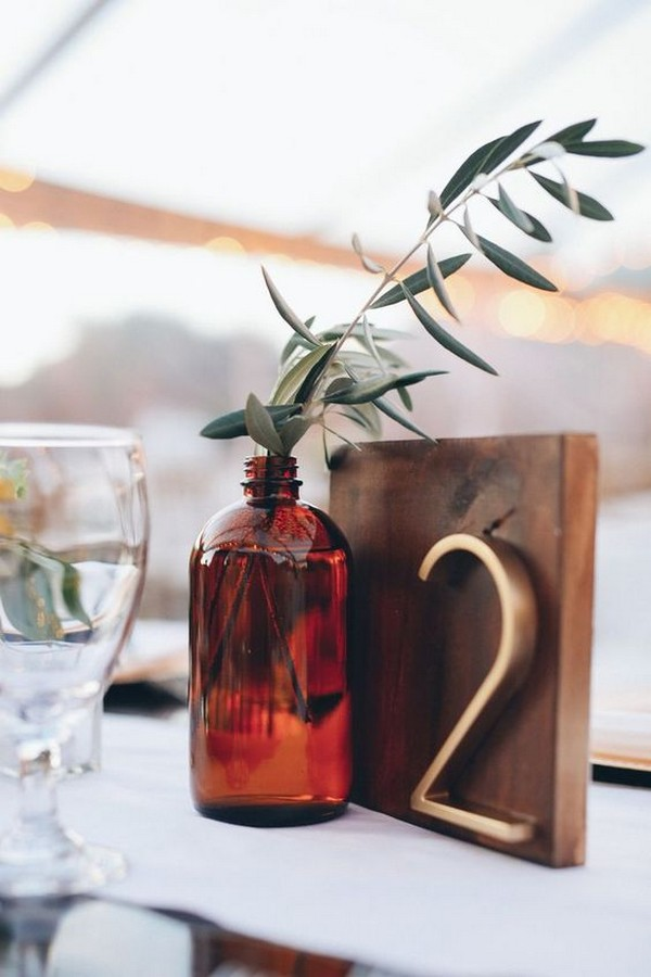 industrial inspired wedding table number
