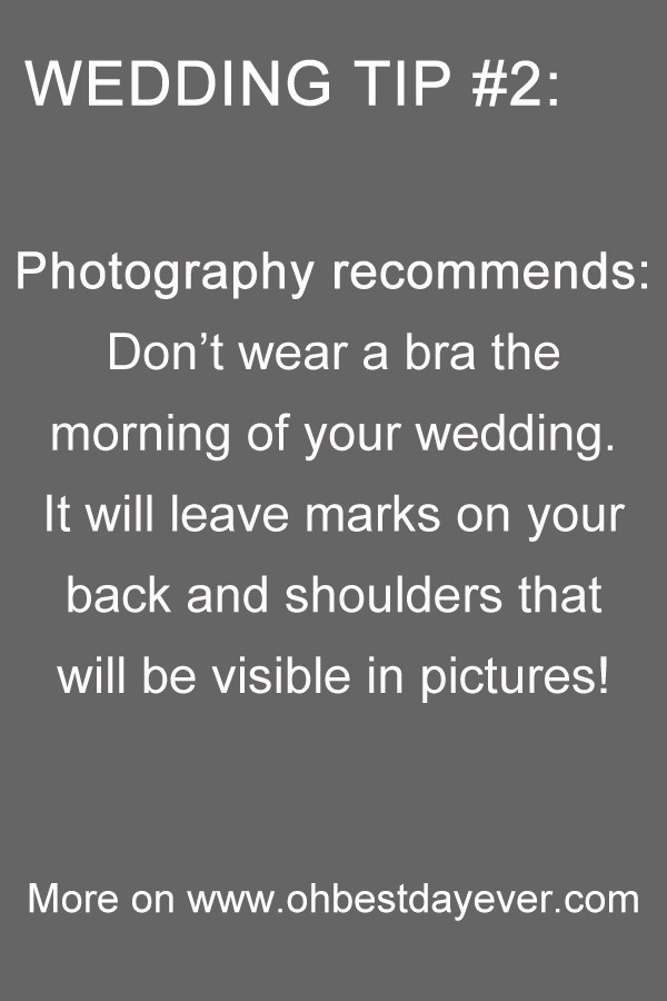 photography recommends wedding tips
