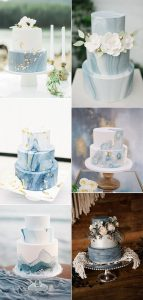 shades of blue wedding cake ideas