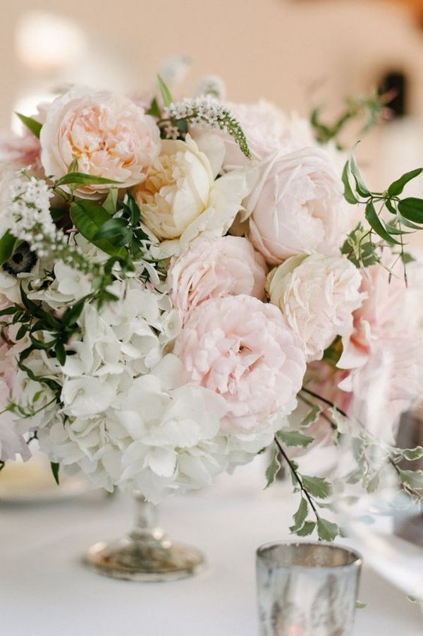 shades of pinks elegant wedding centerpiece ideas