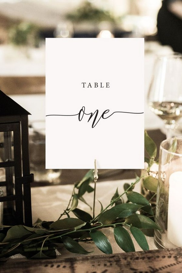 photograph regarding Printable Wedding Table Numbers known as basic classy printable marriage desk figures - Oh Easiest Working day