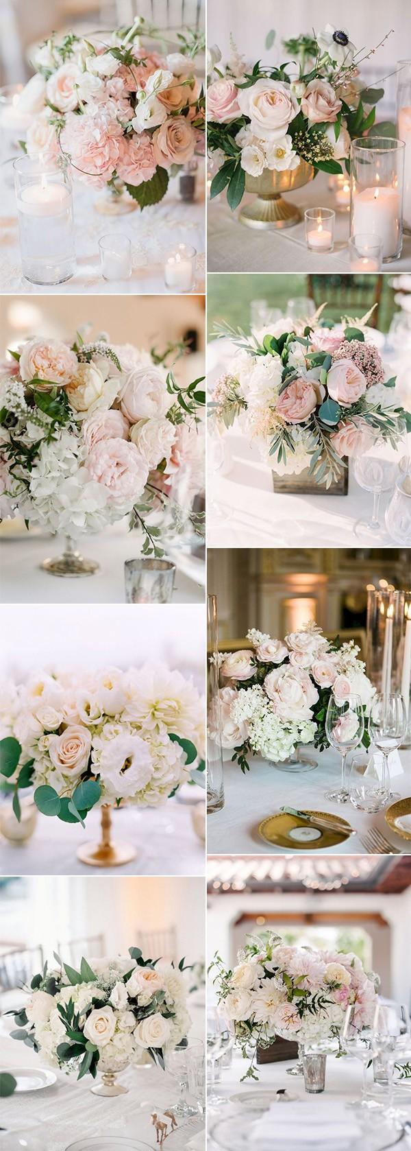 trending blush pink elegant wedding centerpiece ideas