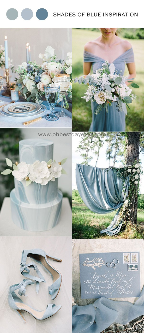 trending shades of blue wedding color ideas