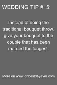 wedding bouquet throw tip