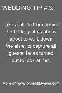 wedding photo tips for brides