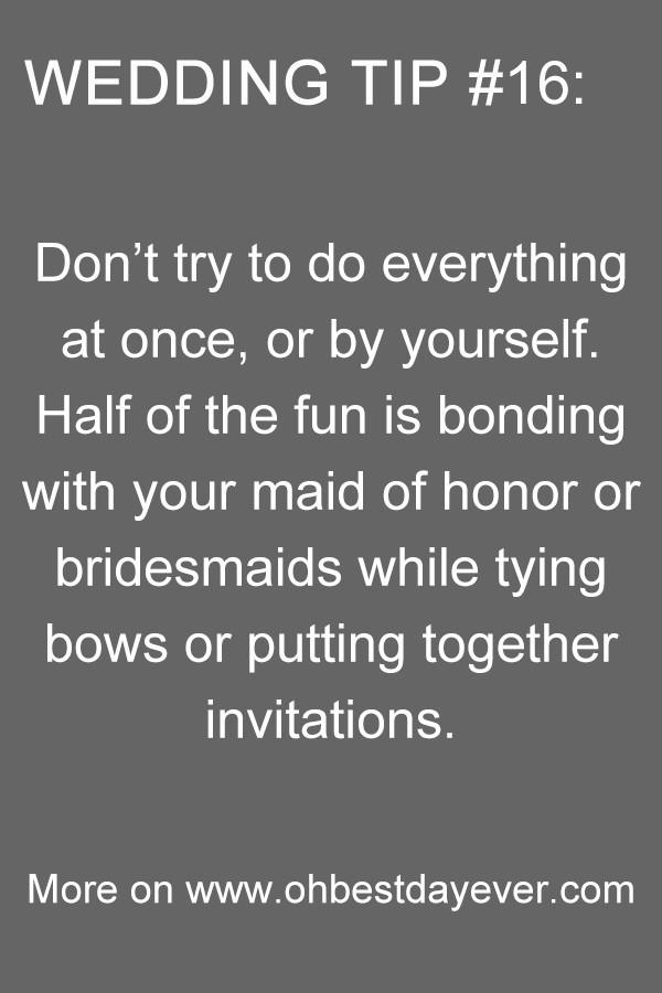 wedding tips for brides