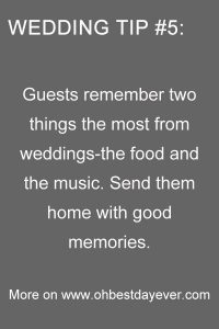 wedding tips for wedding day
