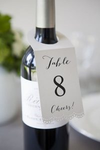 wine bottle wedding table number ideas