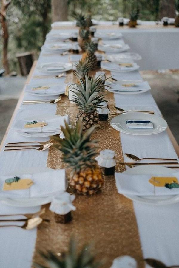 beach side tropical wedding reception centerpiece ideas